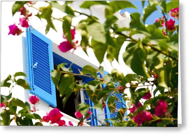 Summer In Greece Greeting Card by Ilias Kordelakos