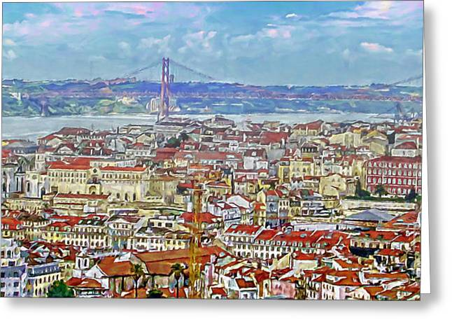 Summer In Lisbon Greeting Card