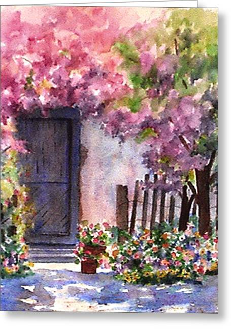 Summer In Santo Tomas Greeting Card by Ann Peck