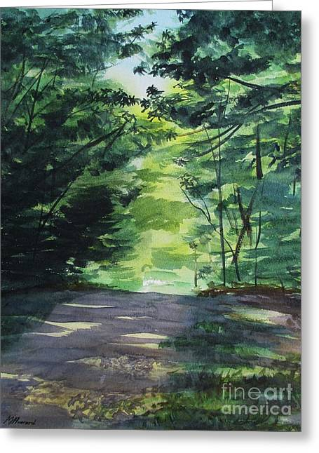 Summer In The Chestnut Woods Greeting Card by Martin Howard