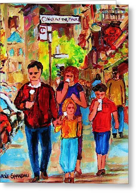 Summer In The City Greeting Card by Carole Spandau