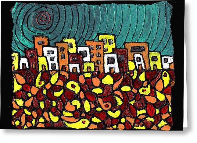 Summer In The City Greeting Card by Wayne Potrafka