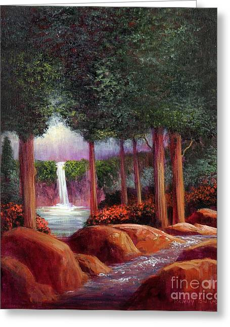 Summer In The Garden Of Eden Greeting Card by Randy Burns
