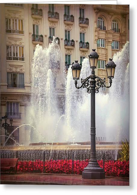 Summer In Valencia Spain  Greeting Card
