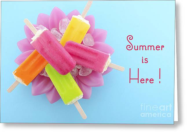 Summer Is Here Cold Candy Greeting Card by Milleflore Images