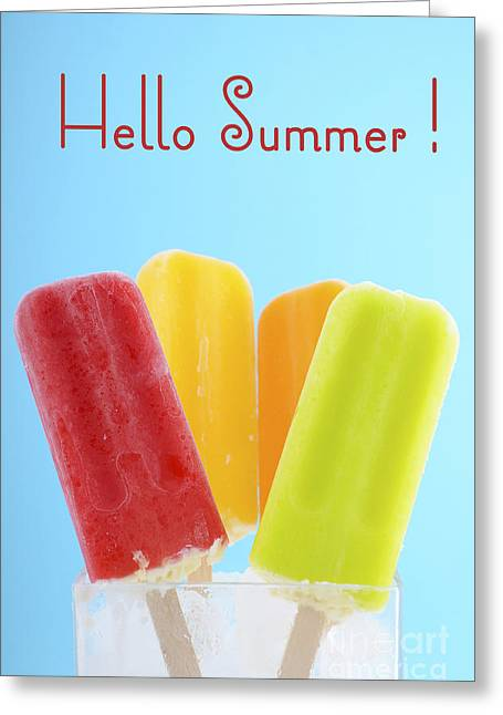 Summer Is Here Ice Creams Greeting Card by Milleflore Images