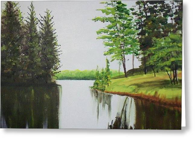 Summer Lake Greeting Card