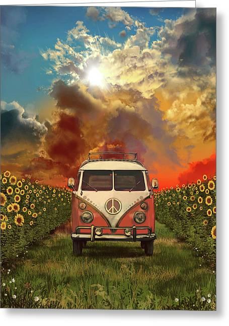 Summer Landscape 3 Greeting Card