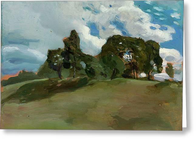 Summer Landscape Greeting Card by Somov