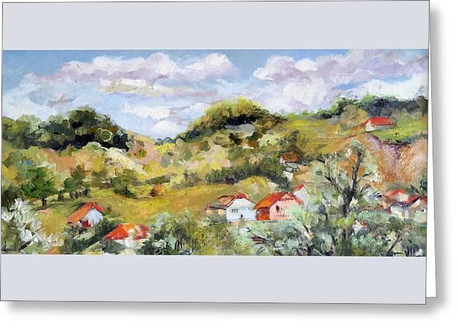 Summer Landscape Greeting Card by Vali Irina Ciobanu