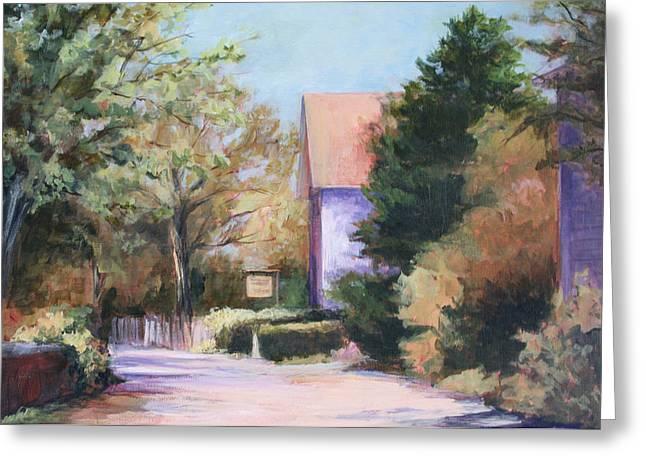 Greeting Card featuring the painting Summer Lane by Vikki Bouffard