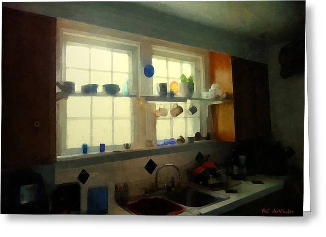 Summer Light In The Kitchen Greeting Card by RC deWinter