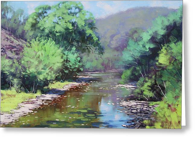 Summer Light Williwa Ck Greeting Card by Graham Gercken