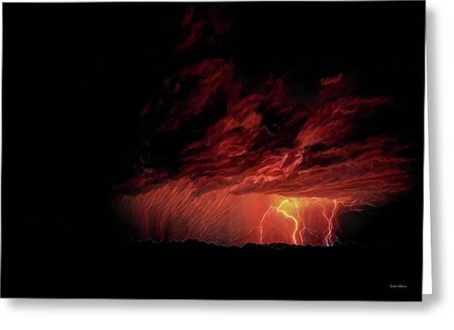 Summer Lightning Greeting Card by Russ Harris