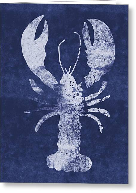 Summer Lobster- Art By Linda Woods Greeting Card