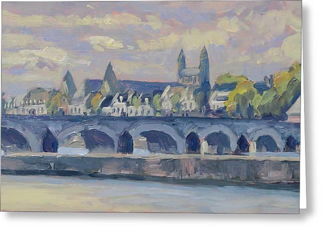 Summer Meuse Bridge, Maastricht Greeting Card