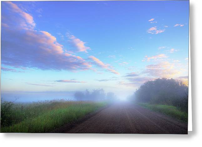 Greeting Card featuring the photograph Summer Morning In Alberta by Dan Jurak
