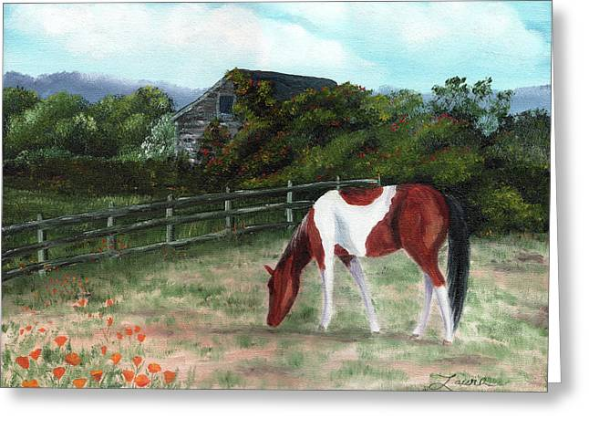 Summer Morning In The Country Greeting Card by Laura Iverson