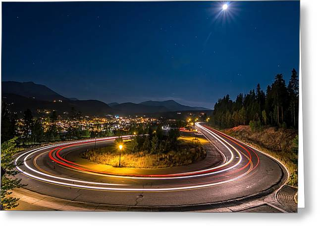 Summer Night Above Breckenridge Greeting Card by Michael J Bauer