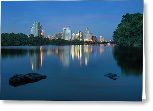 Summer Night In Austin, Texas 2 Greeting Card