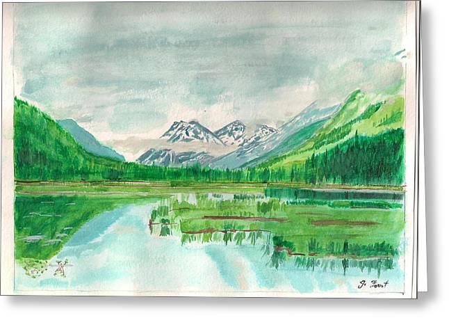 Summer Of Alaska Greeting Card by Jashobeam Forest