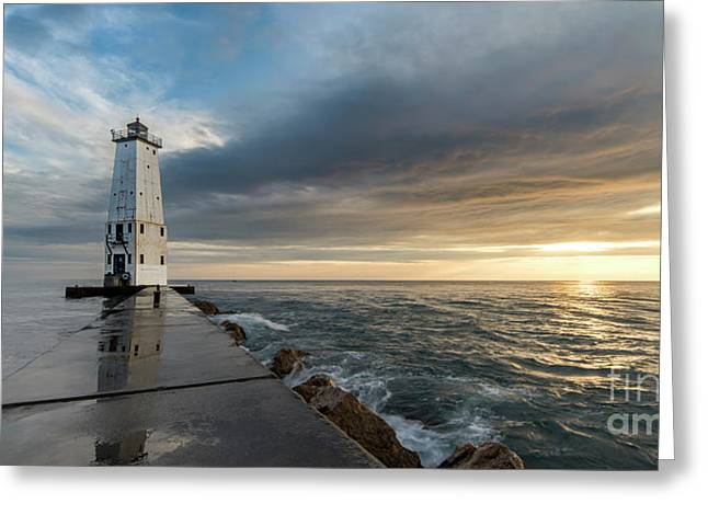 Summer On The North Breakwater Greeting Card