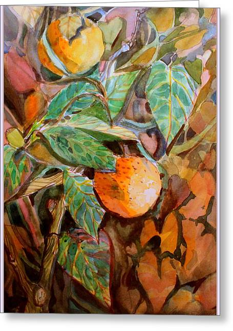 Summer Oranges Greeting Card