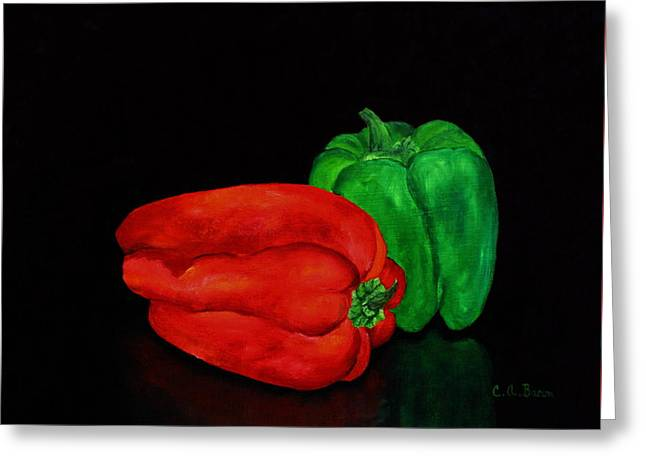 Summer Peppers Greeting Card