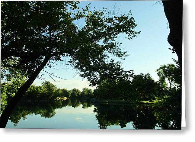 Summer Pond Greeting Card by John Adams