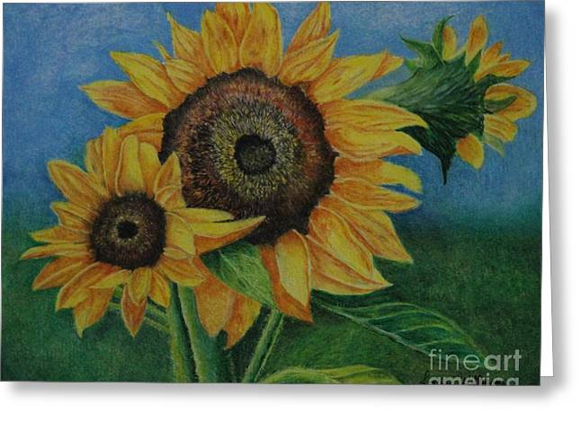 Summer Radiance Greeting Card by Louise Williams