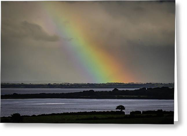 Greeting Card featuring the photograph Summer Rainbow Over Shannon Estuary by James Truett