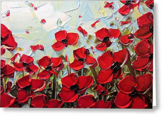 Summer Red Poppies Greeting Card