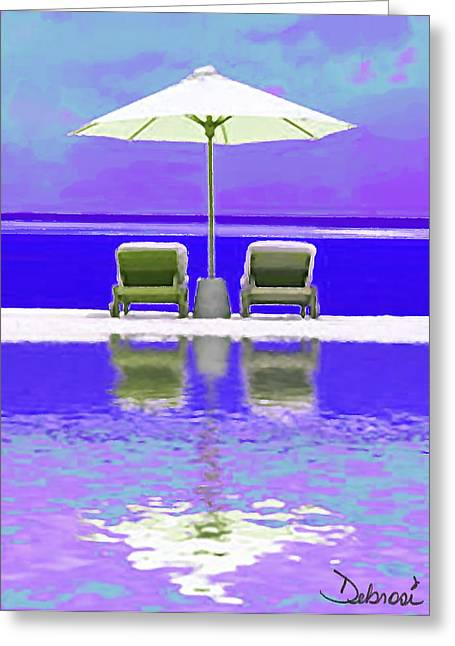 Summer Reflections Greeting Card by Deborah Rosier