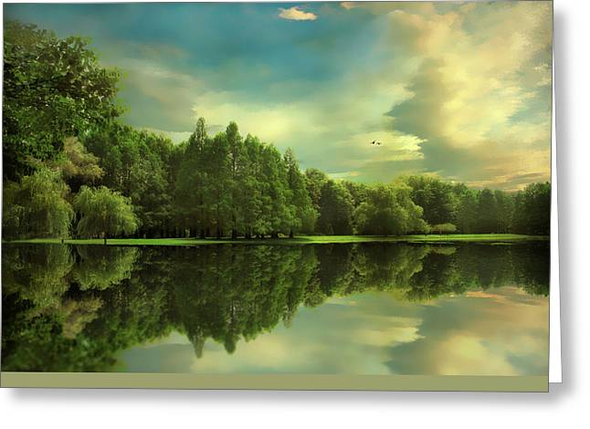 Summer Reflections Greeting Card by Jessica Jenney
