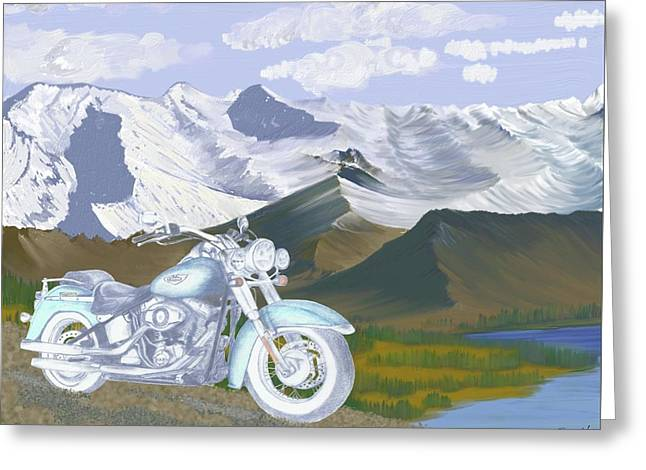 Greeting Card featuring the drawing Summer Ride by Terry Frederick
