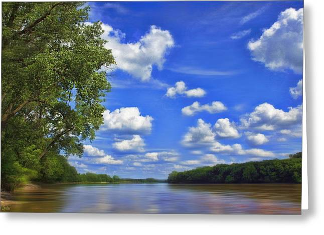 Summer River Glory Greeting Card