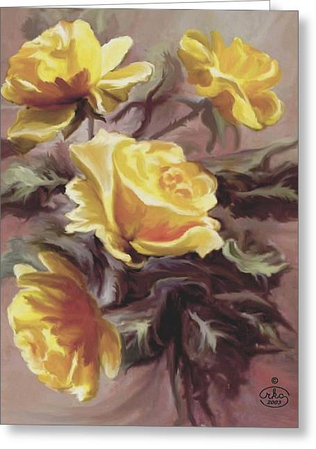 Summer Roses Greeting Card by Ron Chambers