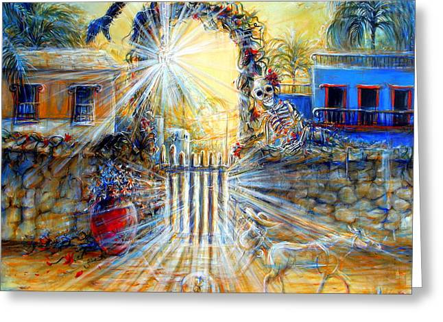 Greeting Card featuring the painting Summer Sanity II by Heather Calderon