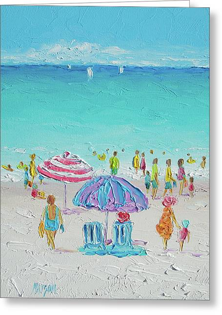 Summer Scene Diptych 1 Greeting Card by Jan Matson