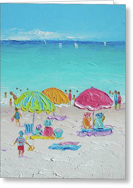 Summer Scene Diptych 2 Greeting Card