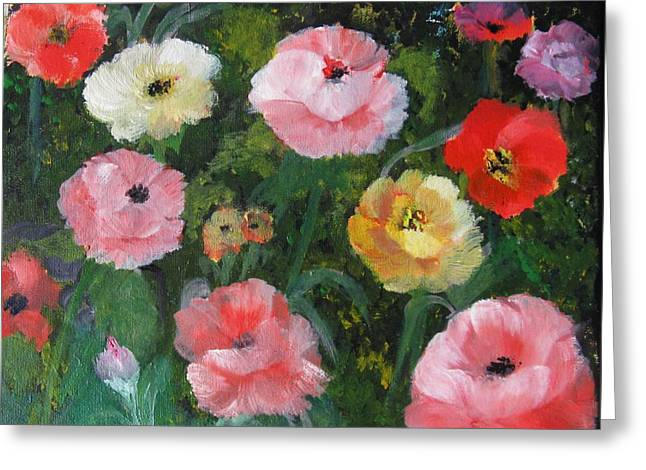 Greeting Card featuring the painting Summer Sensations by Trilby Cole