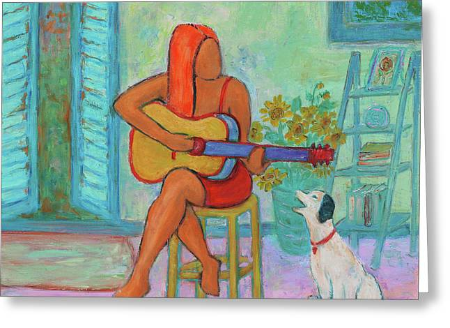 Greeting Card featuring the painting Summer Serenade II by Xueling Zou