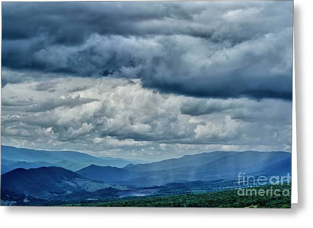 Summer Shower Germany Valley Greeting Card