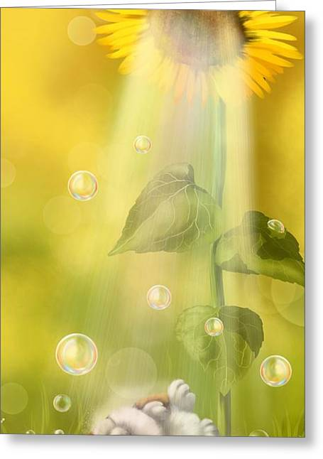 Summer Shower Greeting Card by Veronica Minozzi