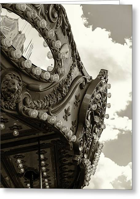 Summer Skies And Carousel Greeting Card
