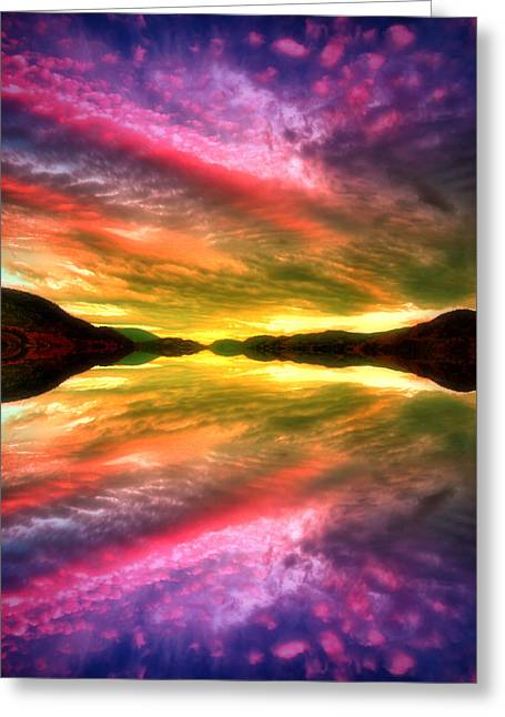 Summer Skies At Skaha Greeting Card