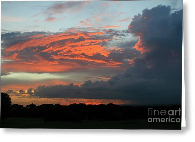 Summer Sky On Fire  Greeting Card