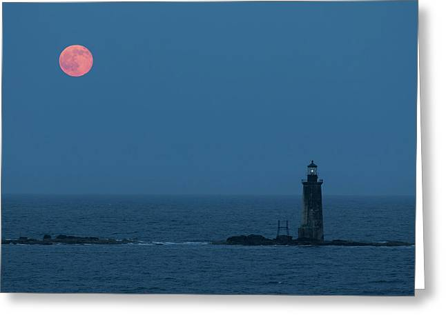 Summer Solstice Strawberry Moon Greeting Card