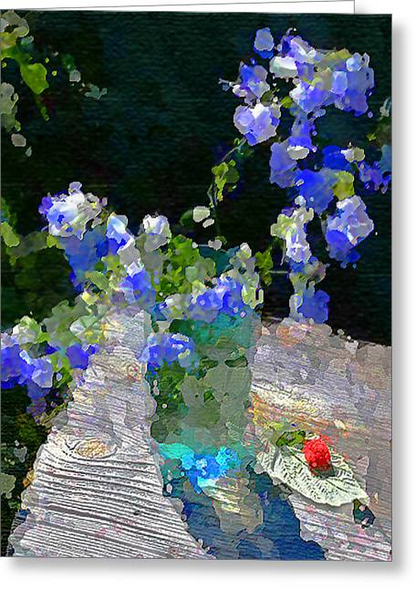 Summer Still Life Greeting Card by Vladimir Kholostykh