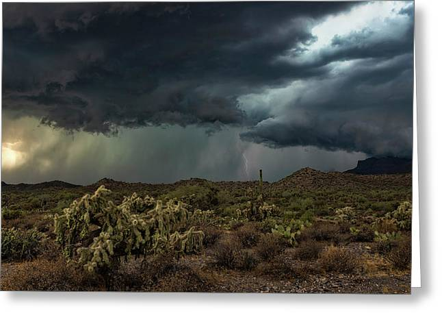 Greeting Card featuring the photograph Summer Storm  by Saija Lehtonen